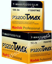 2 x  KODAK TMAX 3200 35mm 36 EXPOSURE BLACK & WHITE CAMERA FILM - 1st CLASS POST