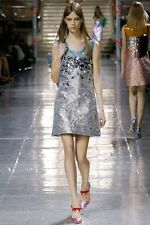 MIU MIU F/W 2014 RUNWAY Matelasse Embellished Brocade Mini Dress IT38/US4 ~NWT~