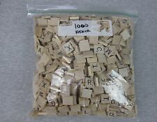 Lot of 1000 Scrabble Wood Wooden Square Tiles Crafts Scrapbooking Game