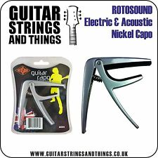 Rotosound Capo for Electric & Acoustic Guitar. Small & lightweight