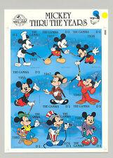 Gambia #814 Disney, Mickey 60th Anniversary 1v M/S of 9 Imperf Chromalin Proof