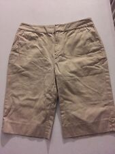 Lauren Ralph Lauren Womens Shorts 6 Tan Khaki Bermuda Walking Flat Front Cotton
