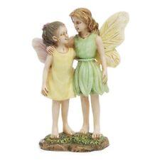2 Sisters Mini Figurine Fairy Girls Garden Accessory Dollhouse Decor Ornament