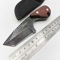 Fixed Blade EDC Knife 440C Blade Wood Outdoor Camping Tactical Pocket Knives OEM