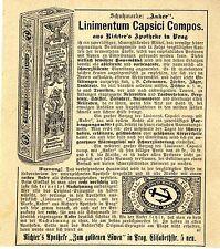Juge's pharmacie au Lion d'or prague linimentum capsici mentis annonce 1899