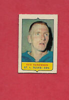 RARE 1969-70 OPC  FOUR ON ONE BLUES RED BERENSON  MINI  CARD