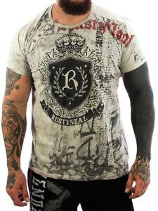 Rusty Neal T-Shirt King Logo beige Männer T Shirt Sport,Freizeit NEU