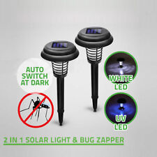 Solar Powered LED Light Mosquito Bug Zapper Insect Killer Lamp Garden Lawn KY