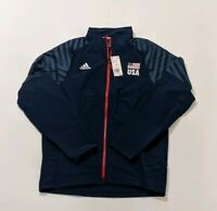 Adidas Men's Blue USA Volleyball Warmup Full Zip Climalite Jacket Medium DT7915