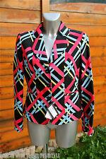 luxueuse veste coat multicolore LOVE MOSCHINO taille 40 NEUVE ETIQUETTE val 395€