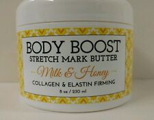 BASQ Body Boost Stretch Mark Butter - Milk & Honey 8 oz