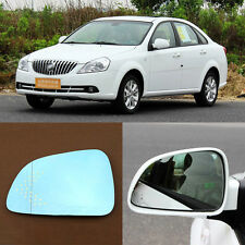 Rearview Mirror Blue Glasses LED Turn Signal with Heating For Buick Excelle