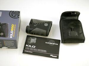 SIG SAUER KILO 850 4x20 Digital Laser Rangefinder - barely used in box complete