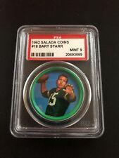 1962 Salada Coins #18 Bart Starr PSA MINT 9