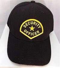 SECURITY Officer Guard Patch Baseball Hat Cap Black Adjustable Biker CAP-0004