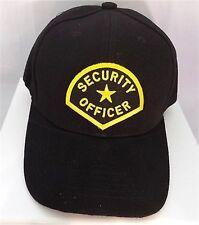 SECURITY Officer Guard Patch Baseball Hat Cap Black Adjustable Biker CAP-0004