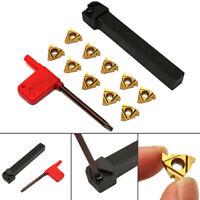 SER1212H16 CNC Tool Holder Boring Bar + 10Pcs 16ER AG60 Golden Threading Inserts