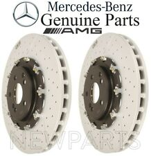 For Mercedes R230 W219 C190 AMG Pair Set 2 Front Disc Brake Rotors Floated