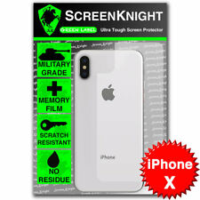 ScreenKnight Apple iPhone X BACK PROTECTOR Military Shield