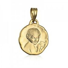 20% SALE! - Genuine 9Ct YG Guardian Angel W/Matt Finish Charm - RRP $229.95