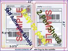 600 Round Corners Self Adhesive Shipping Labels 8.5x5.5