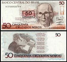 BRAZIL 50 Cruzeiros, 1990, P-223, UNC World Currency