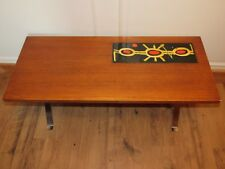 07D27 RÉTRO VINTAGE TABLE BASSE CARREAUX CARRELAGE VALLAURIS DESIGN 1960 / 1970