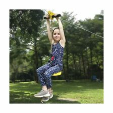 Ctsc 95 Foot Zip Line Kit for Kids and Adult with 5.3 Foot Stainless Steel Sp.