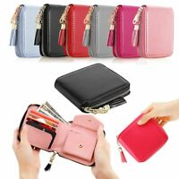 Womens Leather Small Mini Wallet Card Holder Zip Coin Purse Clutch Handbag New