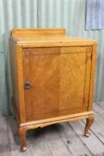 A Large Vintage Pot Cupboard with Inlay - Bedside - Side Cabinet