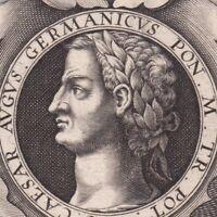 Portrait XVIIe Germanicus Caius Julius Caesar Consul Germanico Giulio Cesare