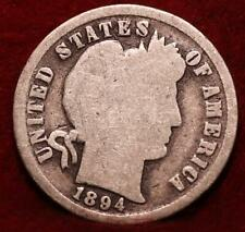 1894 Philadelphia Mint Silver Barber Dime