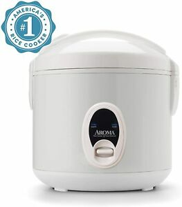 Aroma Rice Cooker / Food Steamer  8-Cup   2 Quart  Cool-Touch   Model ARC-614BP