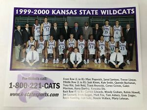 NEW 1999-2000 Kansas State Wildcats Team Photo Print 10.5 x 8.25 inches Big XII