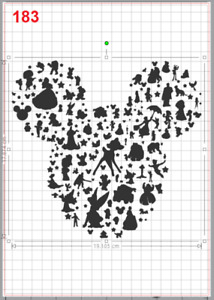 Disney Characters made Mickey Mouse Face Stencil MYLAR A4 sheet strong reusable