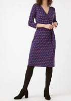 NEW White Stuff Ladies Aida Purple Printed Wrap Dress Szs 8-18 RRP £49.95