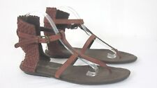 HENRY BEGUELIN Handmade Gladiator Sandals Leather Sz 39 / 8.5 Womens MSRP $477