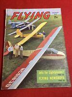 1947 August Flying Magazine Newsboys Cape Cod Minnesota Arrowhead Thorp Sky