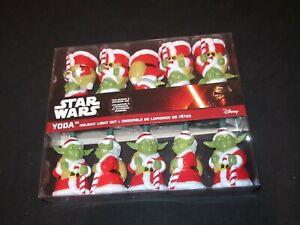 Star Wars Yoda Santa Suit Christmas Holiday Light Set Kurt Adler 10 Lights FF134
