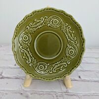 Canonsburg Pottery Company Regency Ironstone China Saucer Olive Green Vintage