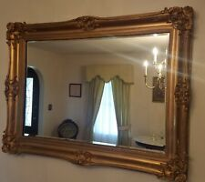 """New listing Large French Victorian Gold Carved Ornate Picture Mirror 47"""" X 35"""""""
