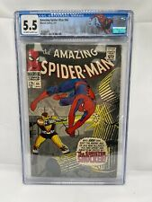 Amazing Spider-Man 46 CGC 5.5 Custom Spider-Man Label OW to W Pages