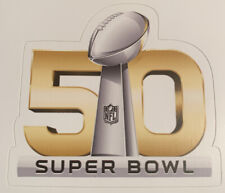 "Super Bowl 50 Carolina Panthers Denver Broncos Sticker Decal NFL 3"" x 2.9"""