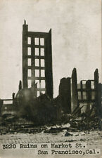 San Francisco Ca * Ruins on Market St. 1906 Earthquake * Adolph Selige Pub.
