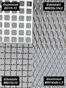 Aluminium Edelstahl 1mm-2mm Wellengitter Drahtgitter Gitter Zuschnitte auf Maß