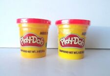 Red PLAY-DOH Modeling Clay Compound, TWO 3 oz Cans  (6 oz total)  Play Dough