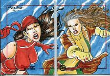 Marvel Greatest Battles Panel Sketch Card By Julia Pinto