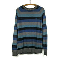 Vans Off The Wall Mens M Pullover Sweater Crew Neck Long Sleeve Striped Skater