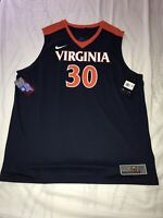 New Nike Men's Virginia Cavaliers UVA Elite Basketball Jersey 2XL $75 #30