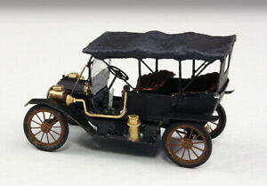 N-Scale 2021 Micron Art 1911 Model T Touring Car Cloth Top, Brass Kit, 2 cars